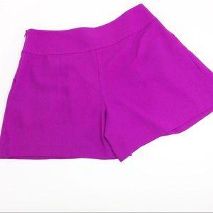 LOFT Shorts - Loft High Waisted Fuchsia Pleated Shorts